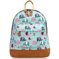 Retro Elephants Backpack for Children at KidsDoTravel #backtoschool #childrensrucksacks #kidsbags #schoolbags