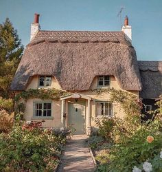 ROSE ~ Gorgeous capture by this beaut is called Rose Cottage Cute Cottage, Cottage In The Woods, Cottage Style, Fairytale Cottage, Storybook Cottage, Forest Cottage, Cabins And Cottages, Beach Cottages, Cottage Living