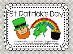St. Patrick's Day Pin Board by The School Supply Addict