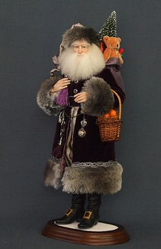 kat soto santa | Santa Doll - Art Dolls - Santa di Cacao by Kat Soto for The Dollsmith