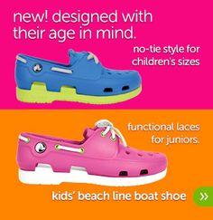 Girls' Beach Line Boat Shoe-crocs.com