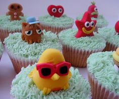 Moshi Monsters cupcakes by small town girl bakery, via Flickr