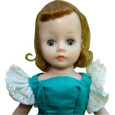 C1958 Cissette Doll in 822 Green Polished Cotton Dress Madame Alexander