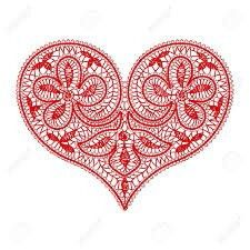 openwork lace red heart on a transparent background to the Valentine's. Lace Patterns, Crochet Patterns, Heart Background, Color Naranja, Lace Heart, Lace Jewelry, Lace Making, Bobbin Lace, Happy Valentines Day