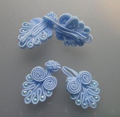 Lyracces 10pair Handmade Sewing Fasteners Chinese Closure Knot Cheongsam Frog Buttons (Sky Blue) GarmentSewingsupplies