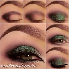 "1) Using a Small Crease brush, apply ""Black Liquorice"" Pigment in a ""C"" like shape.  2) Use a Fluffy Blending brush to blend out the harsh edges.  3) Spray a Flat Eyeshadow brush with a setting spray or fix+, dip it into ""Kiwi Smoothie"", tap off the excess and apply to the lid.  4) Using a small eyeshadow brush, apply ""Coconut milk"" to the inner corners.  5) Add liner, I used @MakeupGeekTv's ""Immortal"" gel liner. Lashes, I used @HouseOfLashes ""Bombshell"" lashe..."