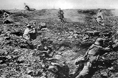 The French assault on the Somme 1916.