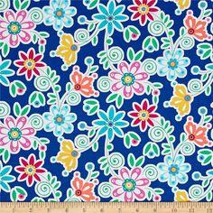 Michael Miller La Dee Da//Bird Dee Da 100/% Cotton Fabric Fat Quarter//Me Pink//Blue