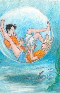 Percy and anabeth in a bubble. This makes my heart happy :)