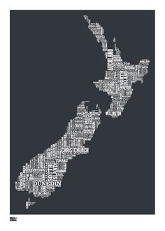 Bold & Noble New Zealand print. Homewares, home decor, prints and kitchenware online from the Perch Home online store in New Zealand Map Of New Zealand, New Zealand Houses, Honeymoon In New Zealand, Zealand Tattoo, Rockett St George, Nz Art, All Things New, Lovely Things, Kiwiana