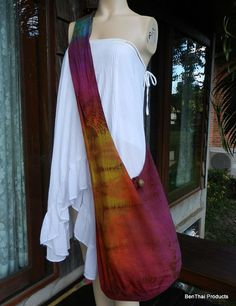 Tie Dye Bag Purse Buddha Hobo Hippie Sling by BenThaiProducts, $15.99