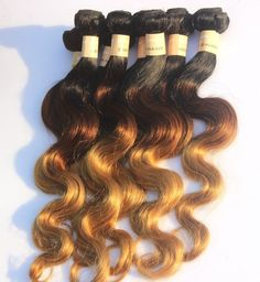 """Brazilian 3Bundles Ombre Human Hair extension 20""""20'20"""" Ombre Color US Local Hot #wigiss #HairExtension"""