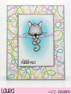 C.C. Designs - Meowy Stamp Set