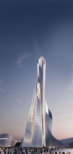 Futuristic Architecture, Future Energies Exhibition In Kazakhstan 2017 / Zaha Hadid Architects. Más sobre ciudades y futuro sostenible en www.solerplanet.com