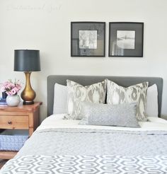 Master Bedroom Upgrades i love the mix of dark and white furniture!!   bedroom overhaul