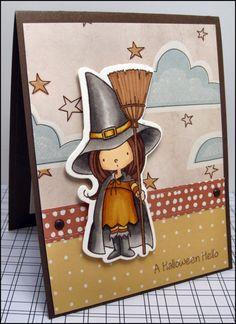 Halloween Card / Witch / Halloween Witch /Halloween Fun /