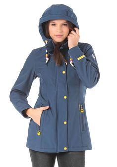 Schmuddelwedda Softshell-Anorak - Funktionsjacke für Damen - Blau - Planet Sports Models, Softshell, Rain Jacket, Windbreaker, Sports, Jackets, Products, Fashion, Cowl
