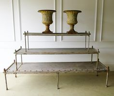 French 19th c 3-Tier Plant Stand - Circa 1870 in Antique Furniture