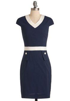 Navy yes Deep Blue Wonder Dress, #ModCloth