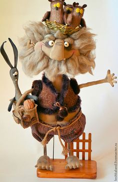 Коллекционные куклы ручной работы. Ярмарка Мастеров - ручная работа Леший Кукух.. Handmade.