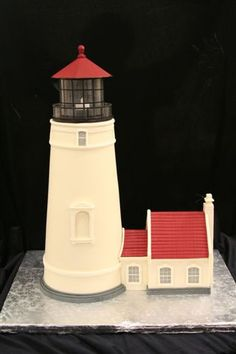 Lighthouse Cake by Mike's Amazing Cakes Lighthouse Cake, Lighthouse Wedding, Beautiful Cakes, Amazing Cakes, Architecture Cake, Realistic Cakes, Sea Cakes, Cake Wrecks, Fancy Cakes