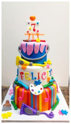 """Art Party"" Birthday Cake"