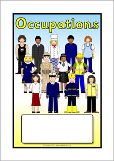 Occupations editable topic book covers (SB9849) - SparkleBox