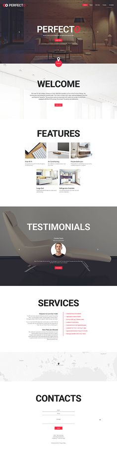 Template 58091 - Perfecto Hotel  Responsive Website Template