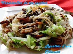 Recettes d'une Chinoise: Vermicelles de riz sautées à la taiwanaise 台式炒米粉 táishì chǎomǐfěn