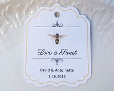 Honey Favor Tags Vintage Honey Bee Custom Labels by SandpiperPress
