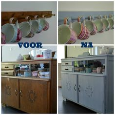@ Ellebel: Before and after - Annie Sloan Chalk Paint Louis Blue