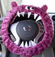 monster steering wheel cover!