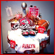 San Francisco Forty-Niners diapercake Niners 49ers SF niners Gold Rush