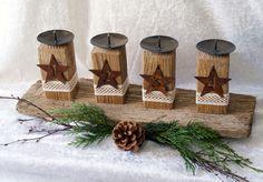 ♥Kerzenhalter ♥ Advent - Treibholz mit Zahlen  von Geschenke und Mehr auf DaWanda.com