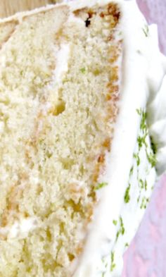 Gin and Tonic Key Lime Cake