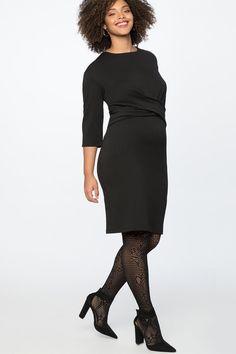 Long Sleeve Little Black Dress Plus Size - When you need a classic black dress this black dress in plus sizes is a fun choice. A5 #PlusSizeDresses #getthelook #PlusSize #PlusSizeFashion #PlusSizeStyle #CurvyGirl #boldcurvyfashionista #curvesarein #curvesfordays #curvy #curvyfashionista #Fashion #Style #PlusSizeDresses