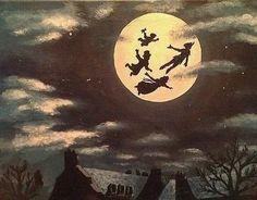 Afbeelding via We Heart It https://weheartit.com/entry/134492700/via/18780610 #disney #Dream #moon #peterpan #vintage
