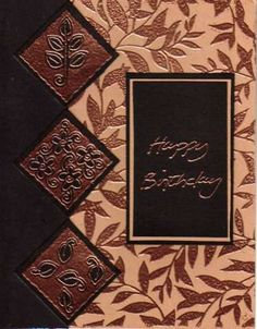 Embossing powder-Copper Birthday greetings