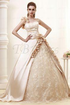 Elegant One-shoulder Ball Gown Royal Angerlika's Wedding Dress