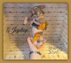 9 inch 'Joydrop' Vintage Style Viscose Rabbit by Artist KarynRuby - pinned by pin4etsy.com