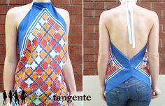 Tangente Repurposes Vintage Scarves into Dazzling Tops : TreeHugger