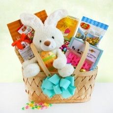 Easter Sweets & Treats: Send Easter wishes to the favorites on your list when you send this fun and adorable Easter basket full of all Easter goodies.