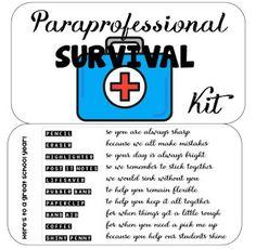 Paraprofessional Survival Kit