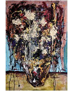 """Polubienia: 766, komentarze: 39 – wojciech sosidko (@w_sito) na Instagramie: """"Sunflowers, mixedmedia on canvas, 60x90cm. . . . . . #art #painting #oil #mixedmedia #abstract…"""""""