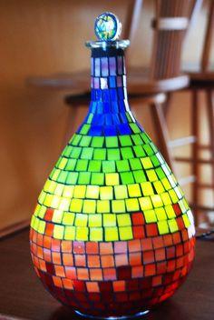 Rainbow Stained Glass Mosaic Night Light