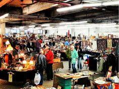Indoor and outdoor New York City flea markets. Here, Chelsea Antiques Garage