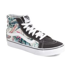 Vans 'Sk8-Hi Slim' Sneaker (€59) ❤ liked on Polyvore featuring shoes, sneakers, laced shoes, lacing sneakers, colorblock shoes, vans shoes and lace up shoes