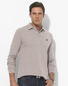 Classic-Fit Long-Sleeved Polo - Classic-Fit Polo Shirts - RalphLauren.