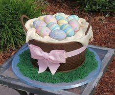 Пасхальный торт «Корзинка с яйцами». Мастер-класс | Домохозяйка