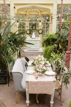 Romantic greenhouse wedding inspiration   Photo by Kate Hubler Photography   Read more - http://www.100layercake.com/blog/?p=75305